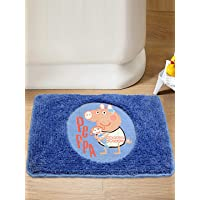 Saral Home Peppa Pig Soft Microfiber Anti Slip Bathmat- 40x60 cm, Blue