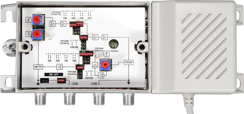 Axing BVS 15-68 Hausanschlussverst/ärker 38dB, 1006MHz, 100dB/µV mit aktivem R/ückkanal 5-65 MHz