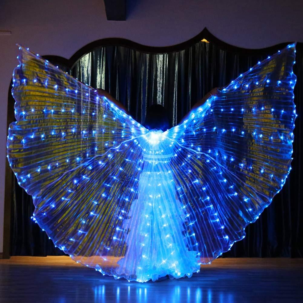 descuento de bajo precio A5  KT Mall LED LED LED Vientre ISIS Alas Adultas De La Fiesta De Danza Angel Wings con Telescópica Sticks Cochenaval De Halloween  la mejor selección de
