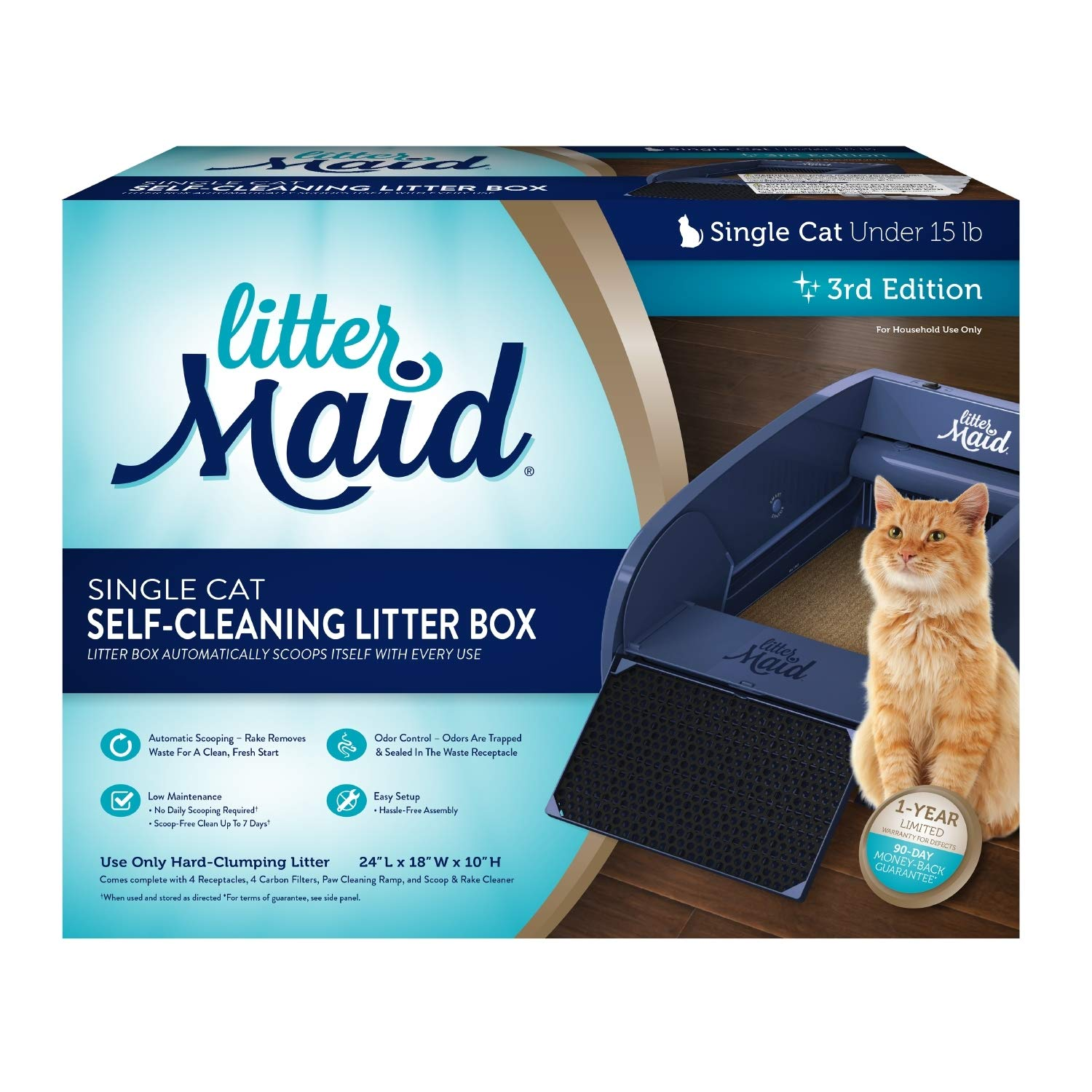 LitterMaid Single Cat Self-Cleaning Litter Box by LitterMaid