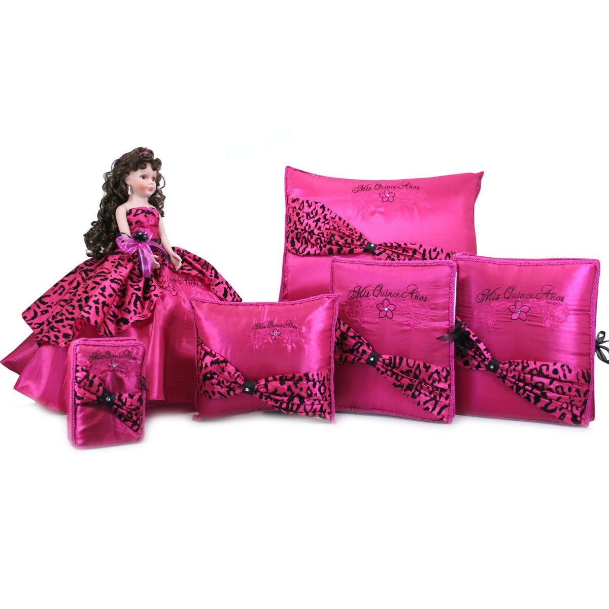 Mis Quince Quinceanera Doll Set Party Favor Q1012 (Basic Set + Spanish Bible) by Quinceanera