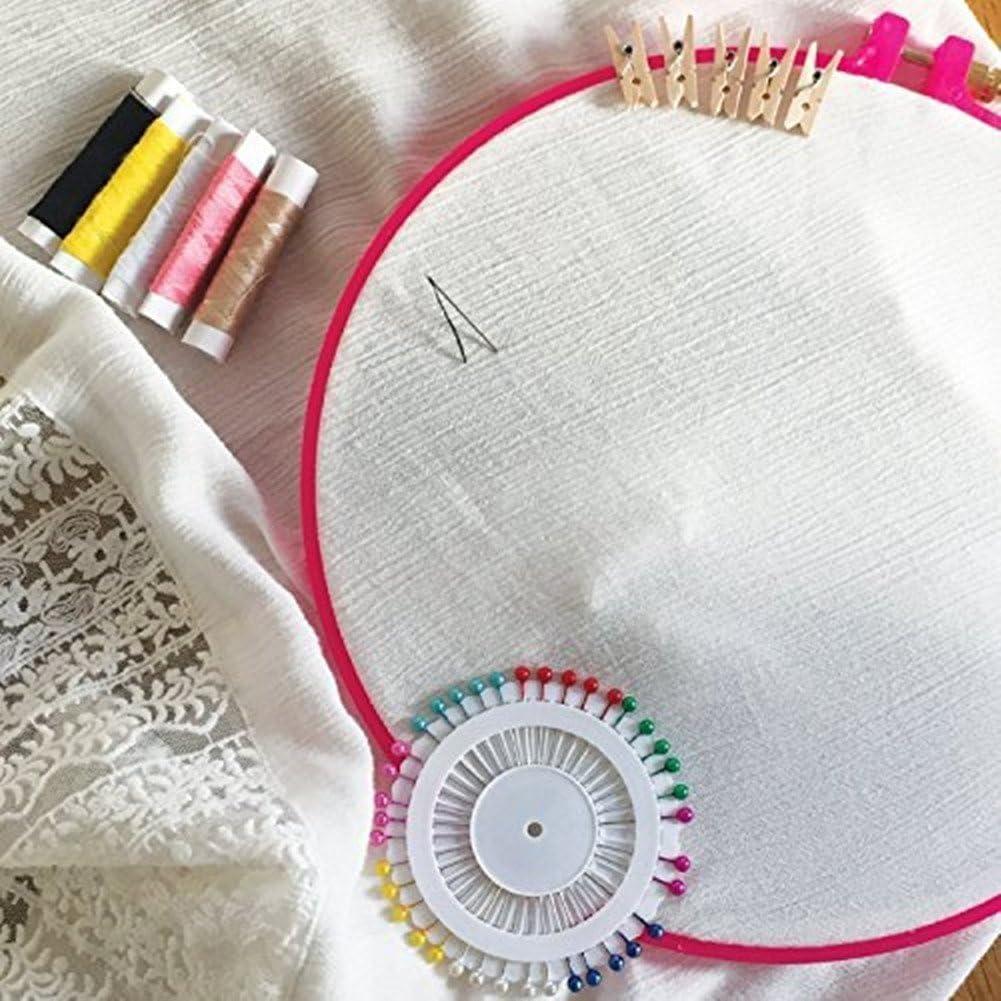 kreisf/örmig 5 St/ück Cleana Arts Stickrahmen aus Kunststoff