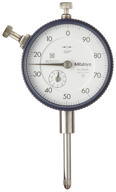 "#4-48 Unf Thread Mitutoyo 2416Sb-06 Dial Indicator Flat Back 0.375/"" Stem Dia."