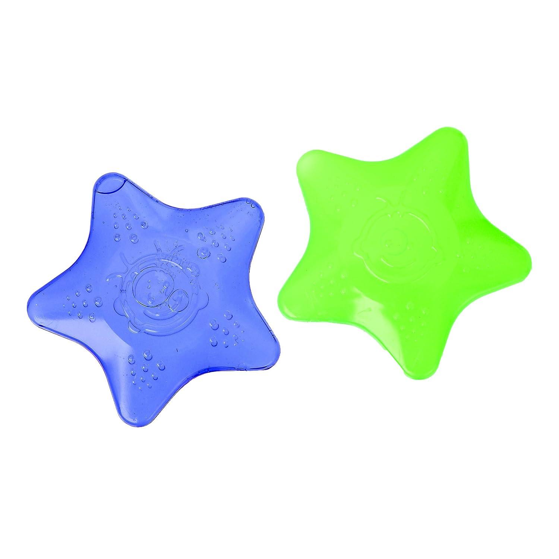 azul//verde azul Innovaciones beb/é Vital 492471-01 Anillo de dentici/ón Mi peque/ña estrella azul//gr/ün Innovaciones Vital