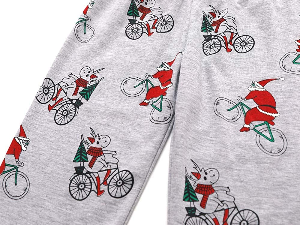 Lucoo Winter Outfits Set,Toddler Kids Baby Santa Claus Christmas Top+Pants Outfits Sweatshirt Sleepwear