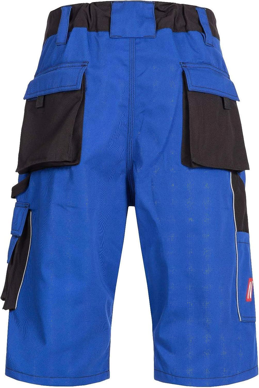Bleu Pantalon Bermuda Court NITRAS Motion Tex Shorts de Travail