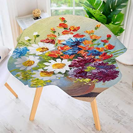 Amazon Prunus Circular Table Cover Washable Polyester Draw