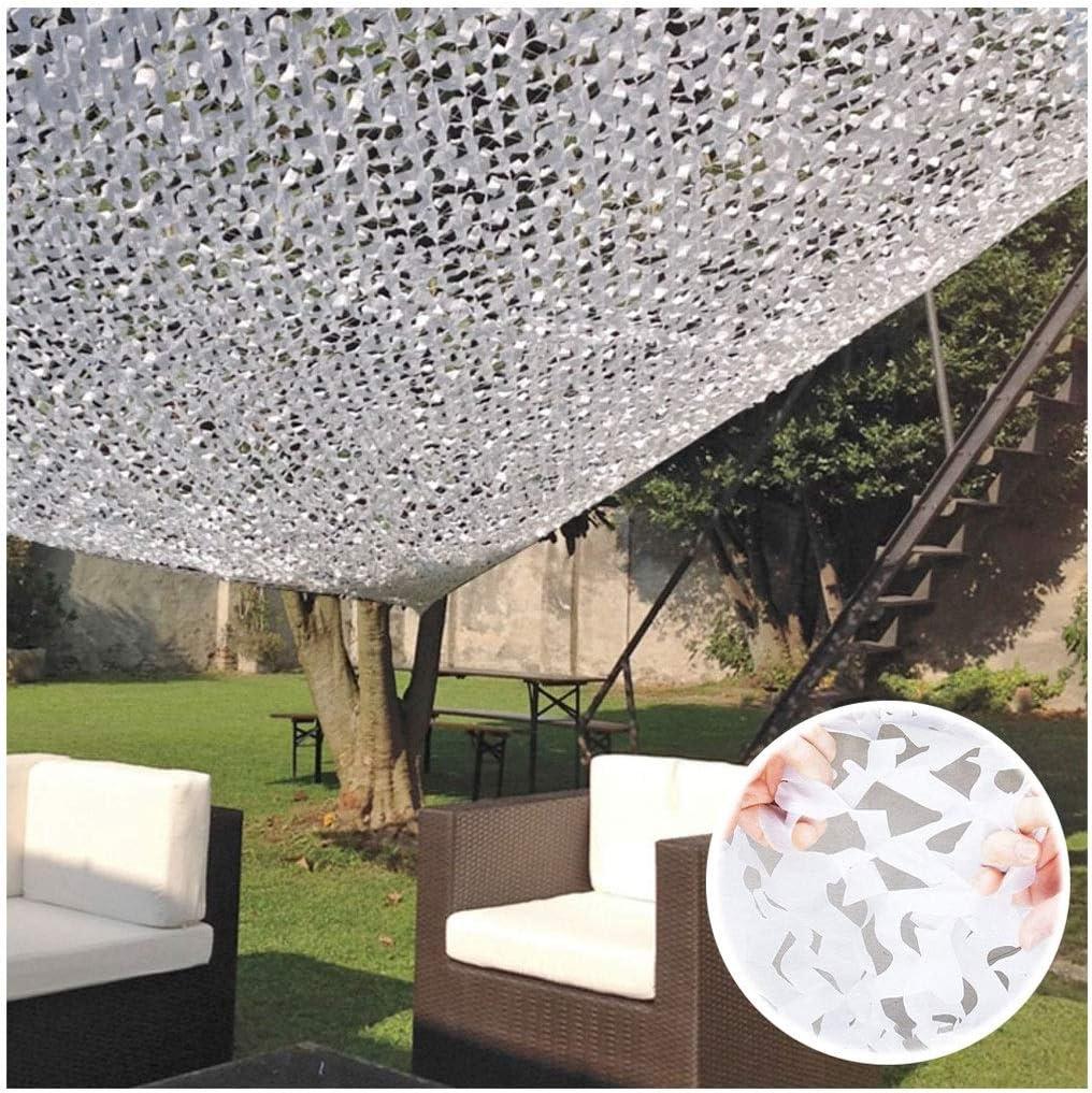 Red de Sombra Malla de Camuflaje Blanca Malla Sombra Red de jardín for Militar Coche Protección Solar Toldos Terraza Camping Cubierta jardín Decorativo Toldos Refuerzo Camuflaje Net 8x4m 8x6m: Amazon.es: Hogar