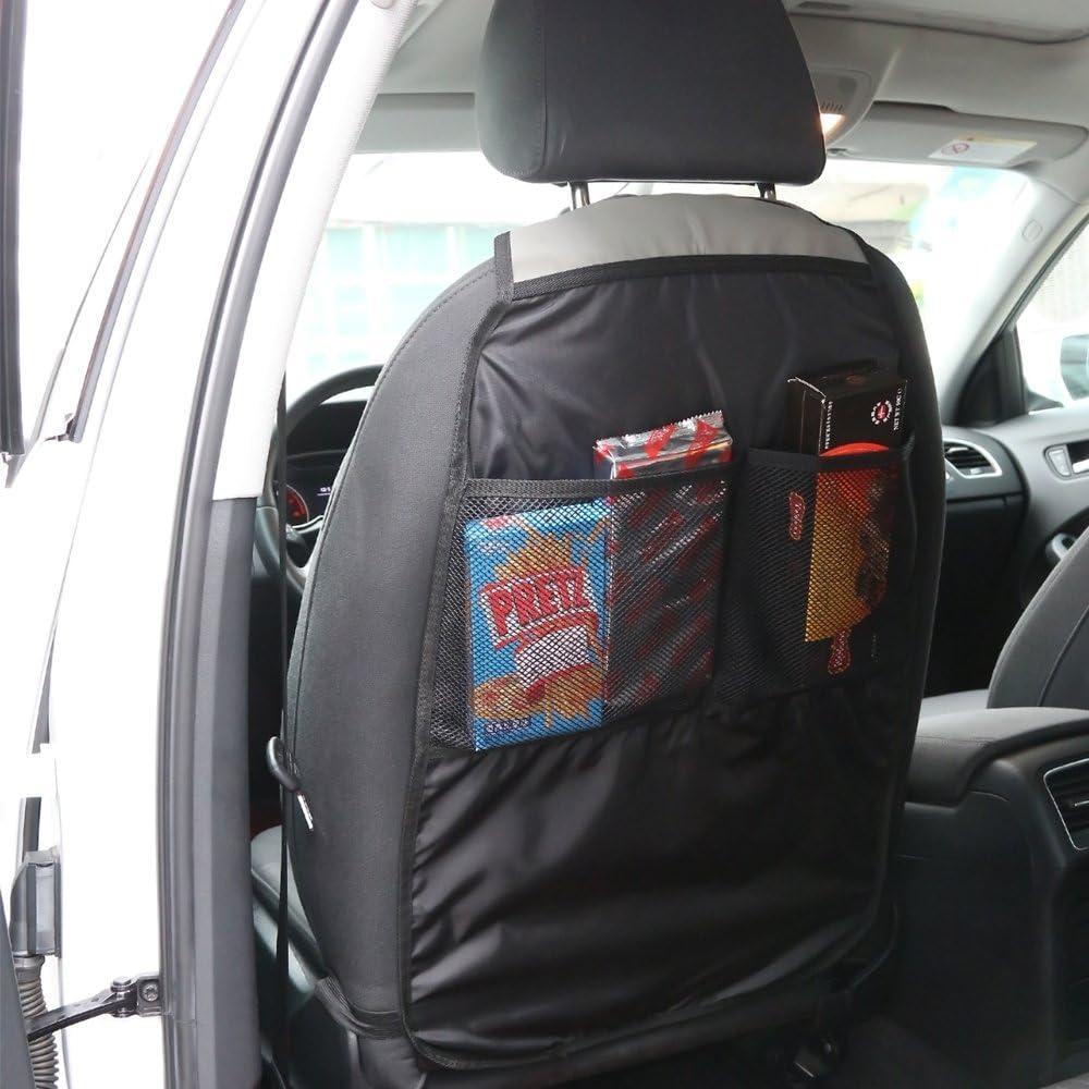 Houkiper si/Ã/¨ge de voiture organisateur sac de rangement si/Ã/¨ge auto arri/Ã/¨re organisateur avec des poches de maille pour le magazine de la bouteille