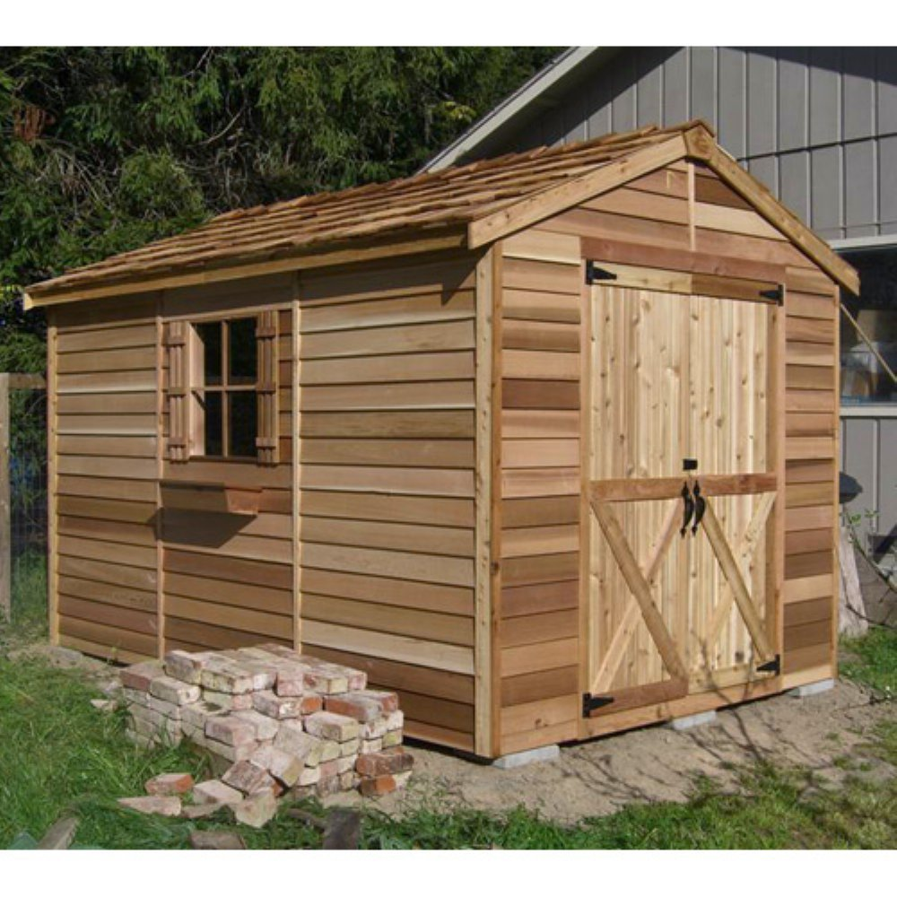 Amazoncom Shed 6 X 9 Ft Rancher Storage Shed Garden Outdoor   Garden Sheds 6  X