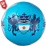 CLASICO Training & Recreation Soccer Ball Free Carrying Net Bag &Needle with Eagle Nation Pattern Official Size 5 for Ages 12+