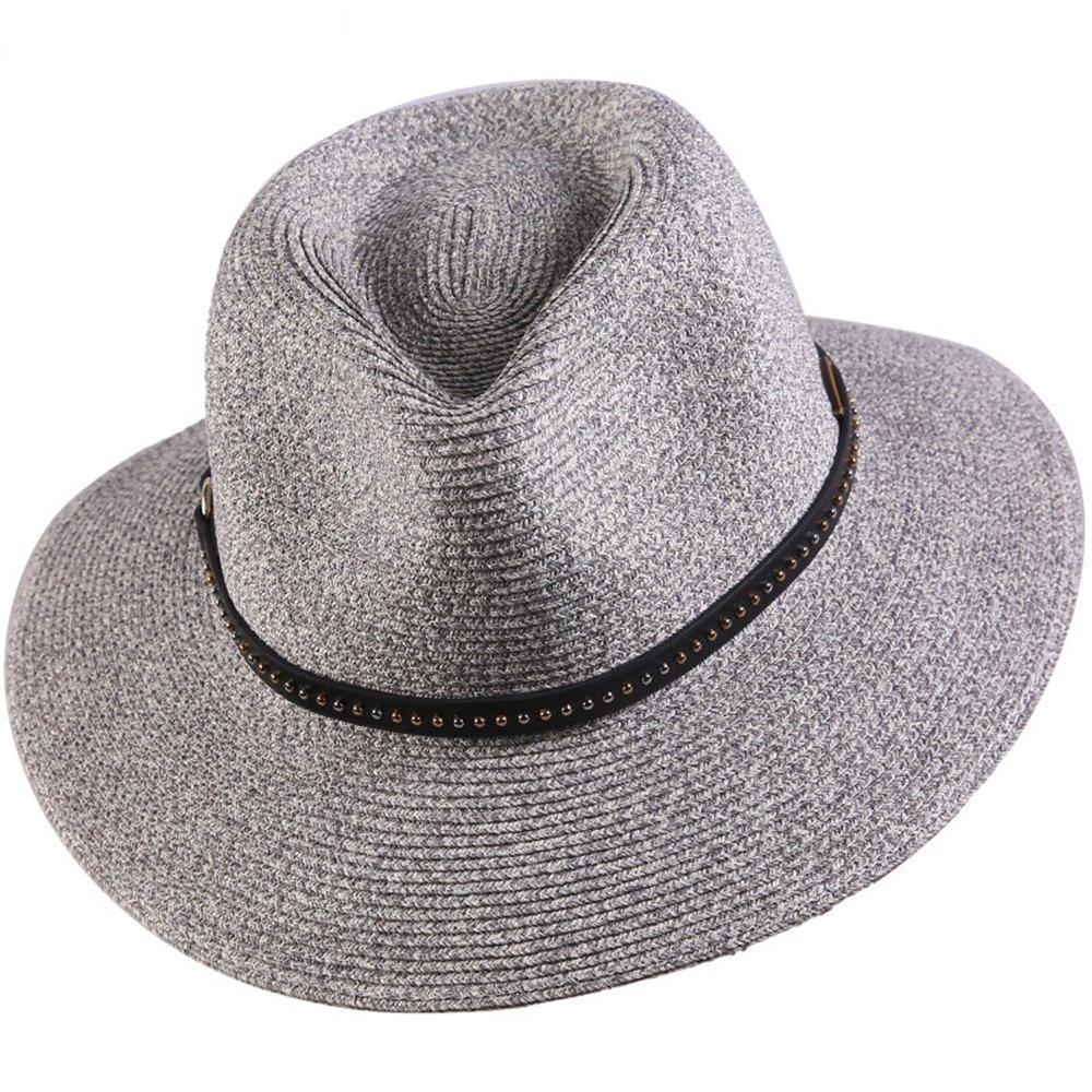 4ac230e8eca94 Sombreros Trilby Pamelas Damas Chicas Mujer Verano Paja Clásico Sombrero de  Sol Gris B  Amazon.es  Ropa y accesorios