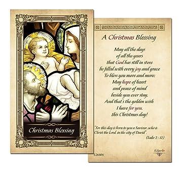 a christmas blessing laminated prayer card pack of 25 - Christmas Blessing Prayer