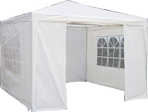 Airwave 3 x 3 m Party Tent Gazebo Marquee with Unique WindBar and Side Panels