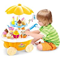 learn with fun Ice Cream Play Cart Kitchen Set Toy with Lights and Music