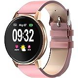 Smart klocka för kvinnor, fitness tracker IP68 vattentät bluetooth smartklocka 1,3 tum full pekskärm med pulsmätare…