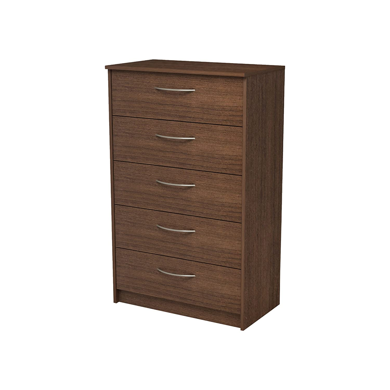 Homestar Finch 5 Drawer Chest - 27.5 x 15.63 x 44.5 - Walnut