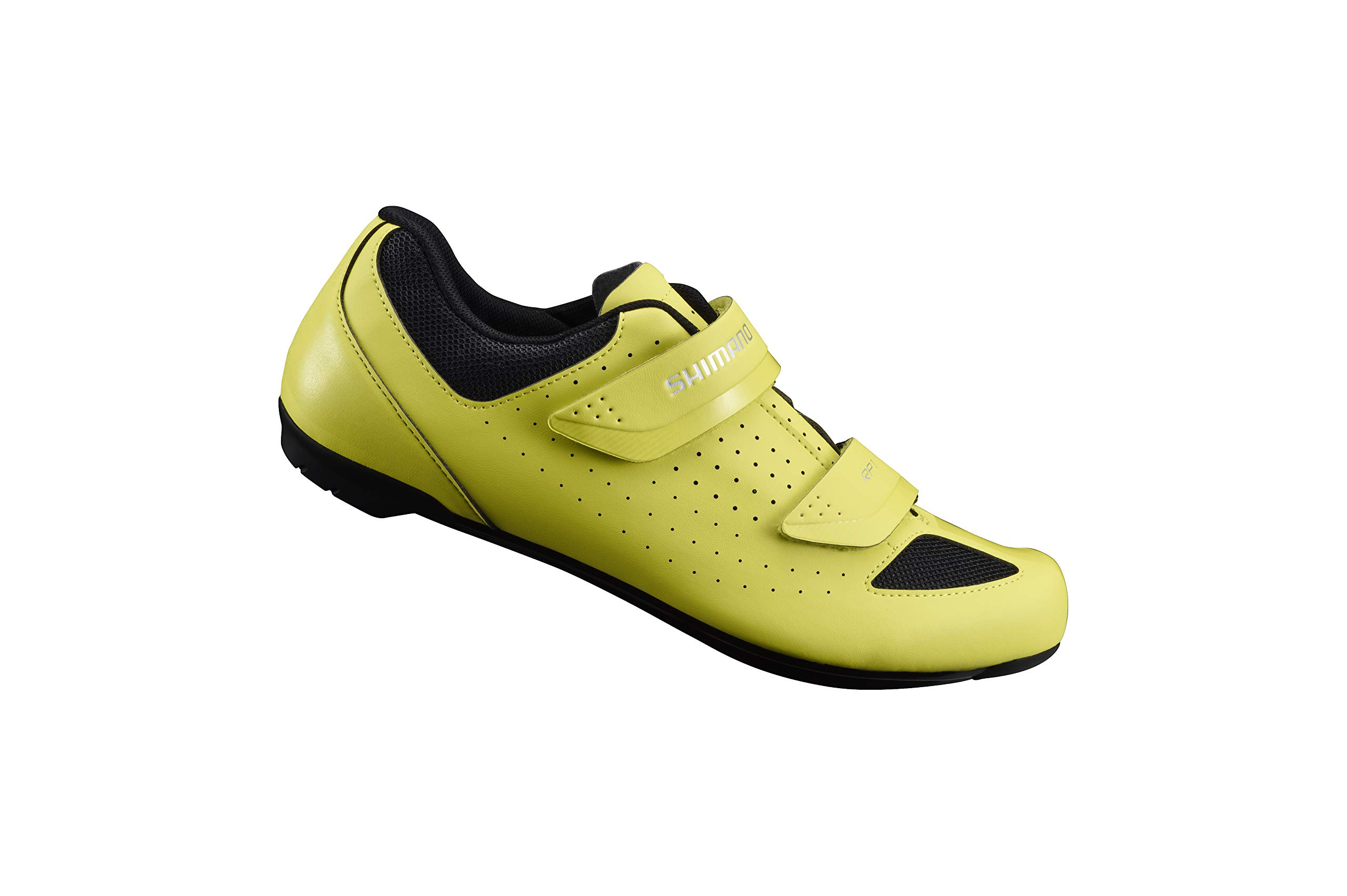 SHIMANO SH-RP1 Bicycle Shoes, Neon Yellow, Size 36