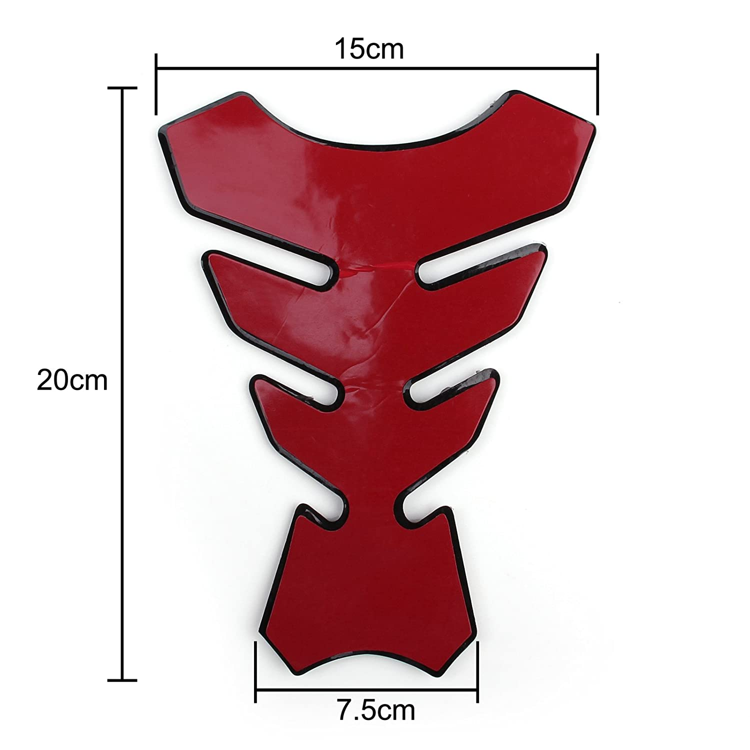 Areyourshop 3D Rubber Tank Pad Protector Gas Motorcycle For Kawasaki ZX 6R
