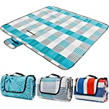ZOMAKE Picnic Blanket Waterproof Extra Large, Outdoot Blanket with Waterproof Backing for Family Concerts,Beach,Park