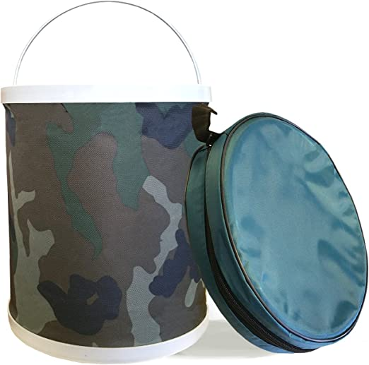 Perfect for Camping InSassy Compact Collapsible Water Bucket Gardening