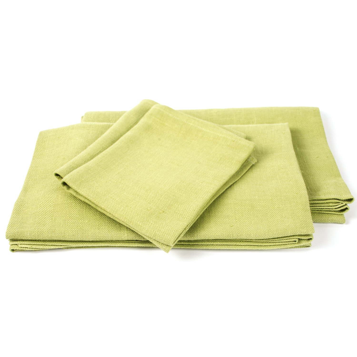 Pistachio Linen Towels Set Lara