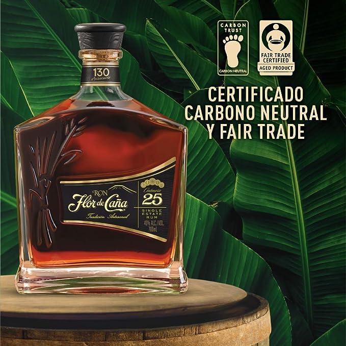 Ron Premium Flor de Caña 25 años - 1 botella de 70 cl