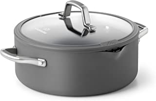 product image for Calphalon Simply Easy System Nonstick Dutch Oven, 5-Quart, Gray