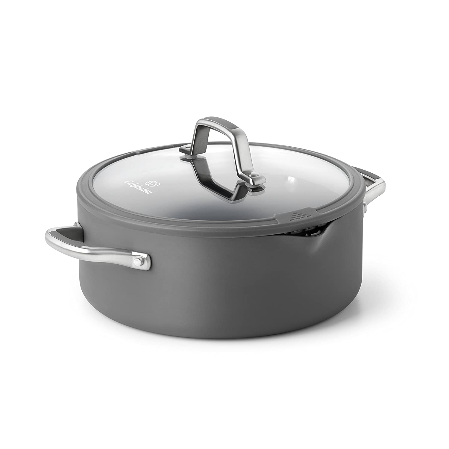 Calphalon Simply Easy System Nonstick Dutch Oven, 5-Quart, Gray