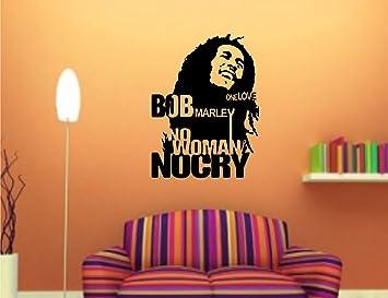 Buy Bob Marley Black Wall Sticker And Wallpaper Size59 79 Cm