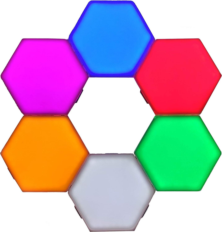 10 pcs Modular Touch Sensitive Wall Light Creative Hexagonal Magnetic Tiles Lamp