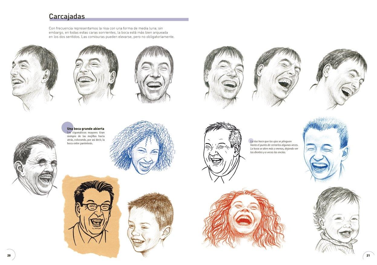 Aprender a dibujar las expresiones de la cara Pintura Y Dibujo: Amazon.de:  Jean Pierre Lamerand, Cristina Puya Canomanuel: Fremdsprachige Bücher