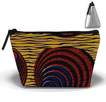 Amazon Cosmetic Bag Zipper Storage Bag Portable Ladies Travel Beauteous African Tribal Patterns