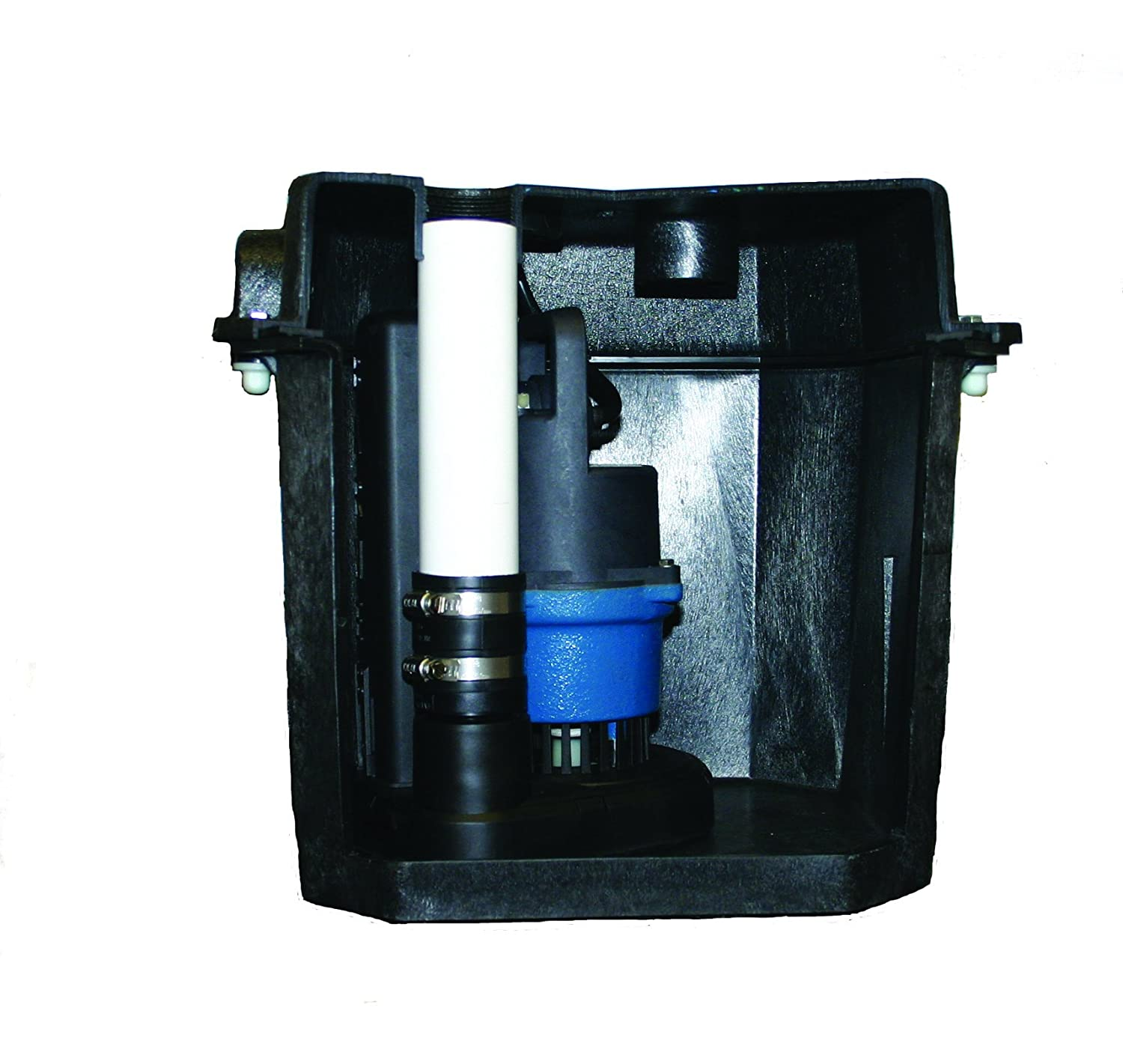 "Barnes 131411 Model SU33LT Preassembled Laundry Tray Sump Pump System with SU33 Pump, 1/3 hp, 120V, 42 GPM, 1-1/2"" NPT Discharge"