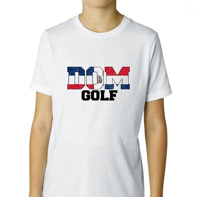 Olímpicos Golf – República Dominicana jóvenes de algodón de niño camiseta