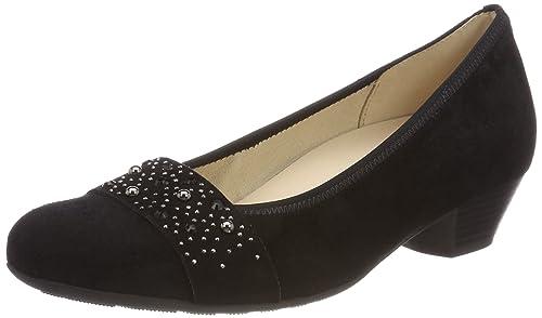 Gabor Shoes Comfort Sport, Zapatos de Tacón para Mujer, Negro (Schwarz), 35 EU