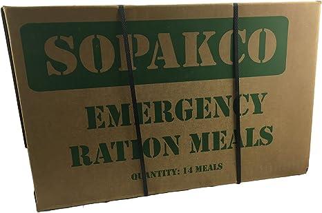 Sopakco MRE (Comidas, Listo para Comer) FEMA Caja de 14 con ...