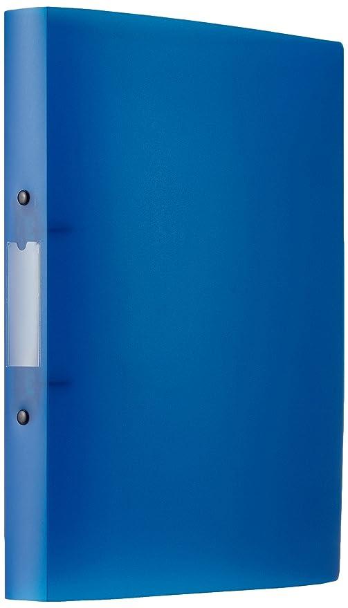 Q-Connect - Archivador de 2 anillas (tamaño A4), color azul: Amazon.es: Oficina y papelería