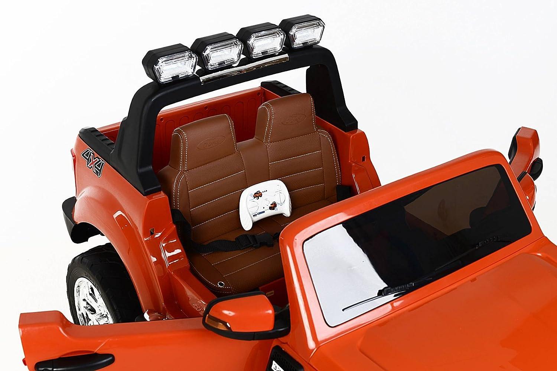 RIRICAR Ford Ranger Wildtrak 4X4 LCD Luxury, Coche eléctrico para niños, 2.4Ghz, Pantalla LCD, Naranja, 2x12V, 4 X Motor, Mando a Distancia, Dos Asientos en ...