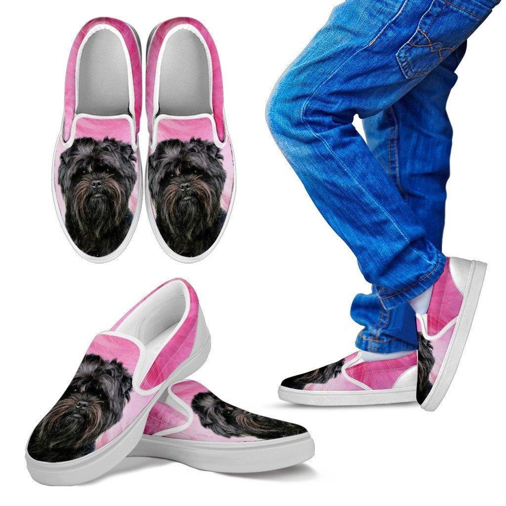 for Affenpinscher Dog Lovers Pawlice Affenpinscher Dog Print Slip Ons Shoes for Kids