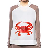 Juvale Disposable Adult Crab Bibs (100 Pack)
