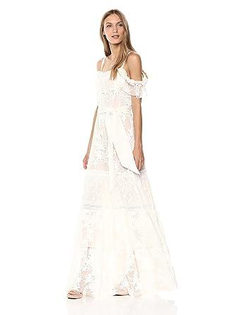 2dce46602cf Amazon.com  BCBGMAXAZRIA Women s Floral Off The Shoulder Maxi Dress   Clothing