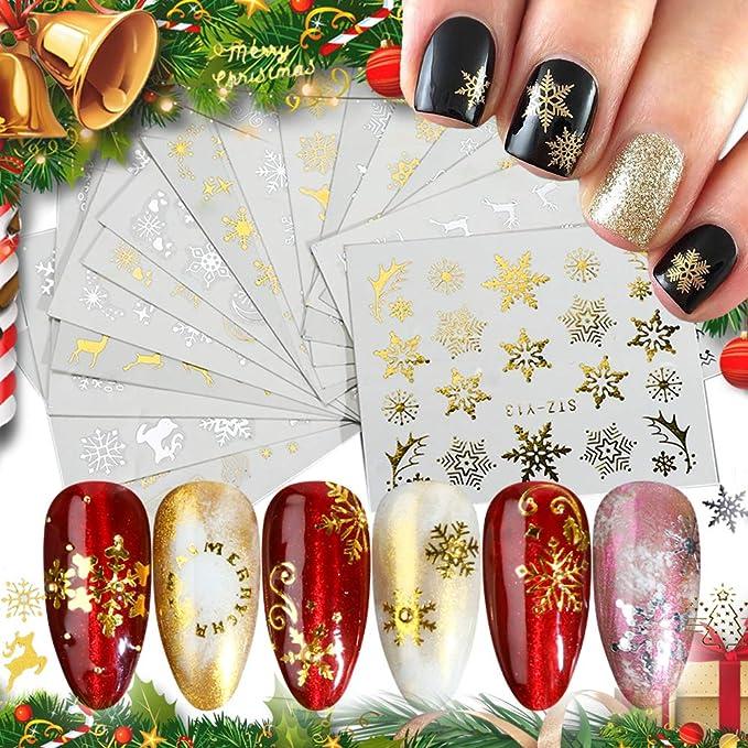 bulk 200pcs Small Plated Christmas series Gear,Tiny Plated Christmas Series Gear,christmas tree Metal Sticker,Nail Art Deco,nail art,resin