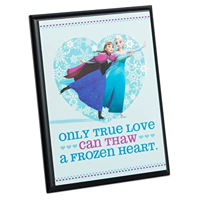 Hallmark Disney Frozen Anna and Elsa True Love Plaque: Home & Kitchen