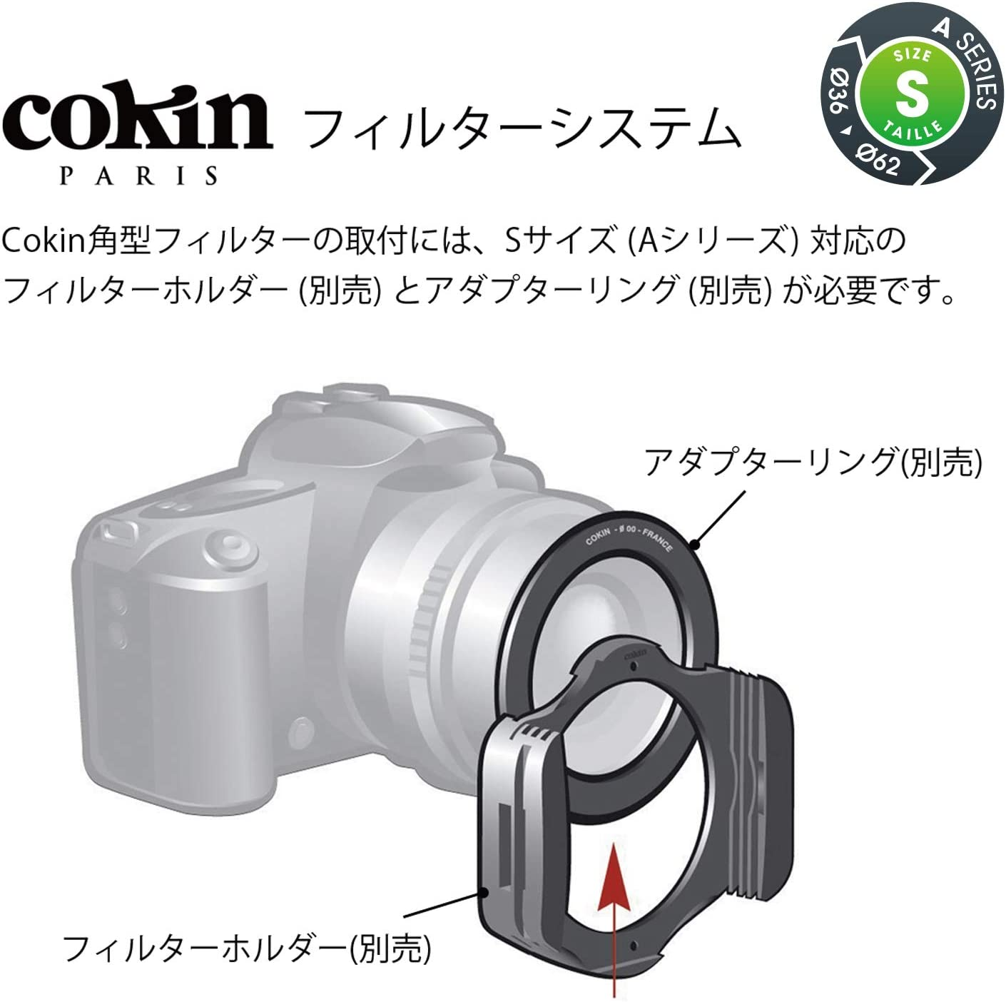 Cokin A664 Filter Gradual Fluo Red 1 A