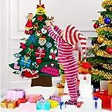 ANMUXI DIY Felt Christmas Tree for Kids, 3.3ft Large Felt Xmas Tree with Glitter Ornaments Xmas Decorations Christmas…