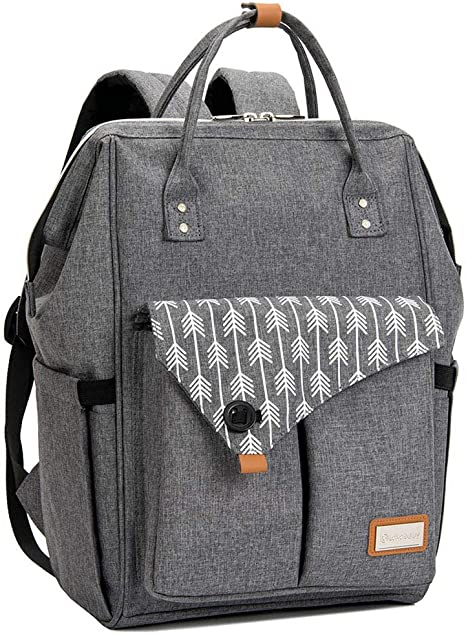 Grey Changing Backpack