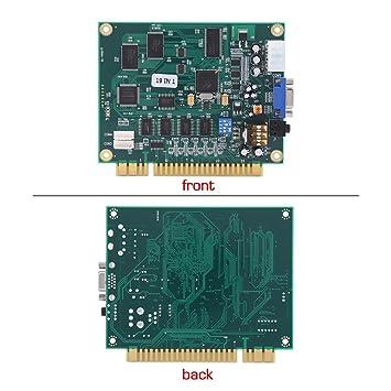 Amazon.es: WALFRONT Arcada Tarjeta de Circuito Impreso Tablero, Clásico19 en 1 Múltiple Arcada Juegos Placa de Video VGA Salida Arcada Máquina Partes