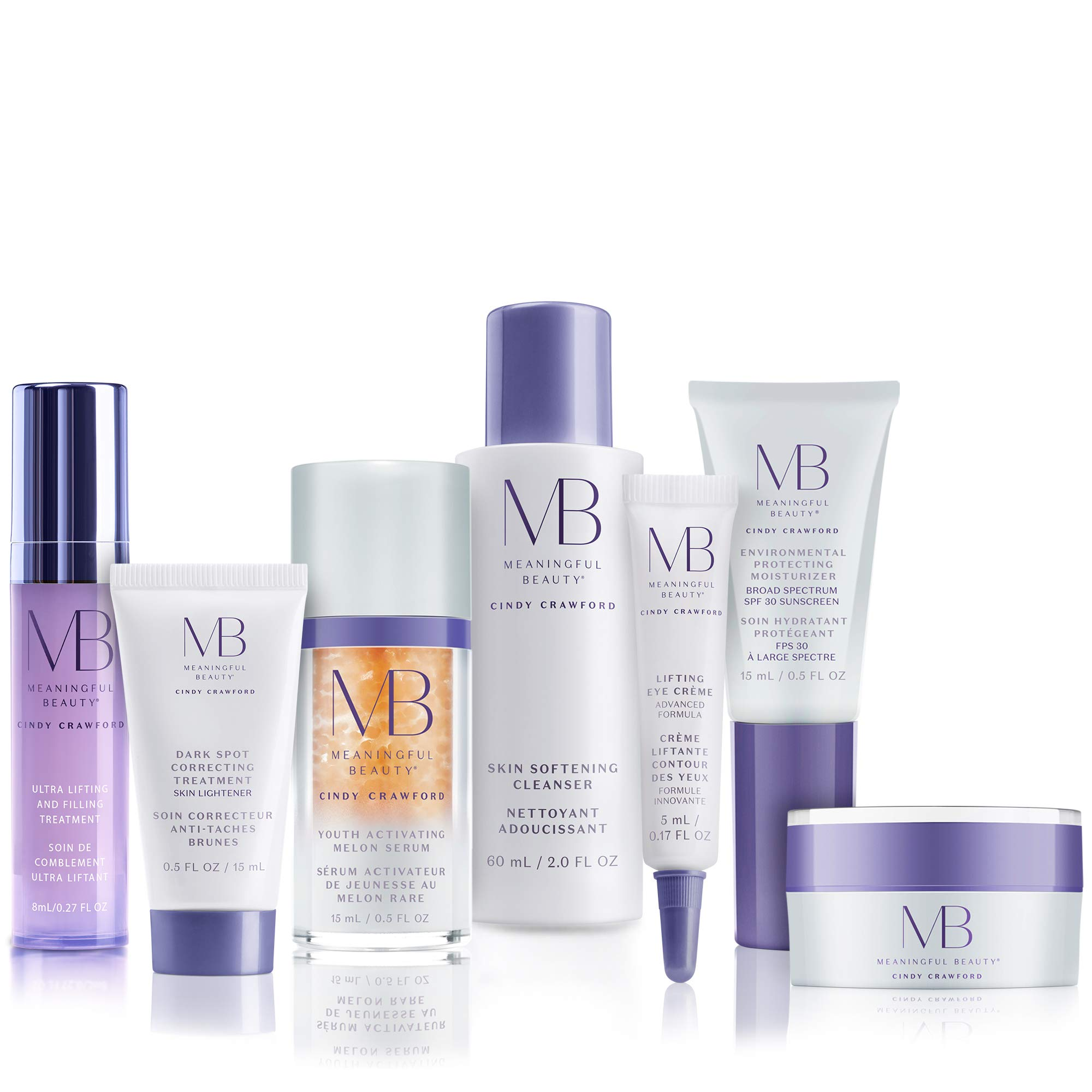 Meaningful Beauty - 7-Piece Anti-Aging Deluxe Starter System - For Lifting, Firming, Hyperpigmentation & Sun Damage