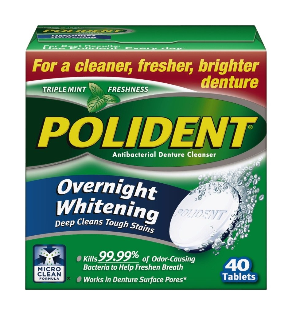 Polident Overnight Whitening Tablets, 40 Tabs by Polident 03443
